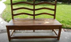 $150 Pine Ladder Back Dining Bench