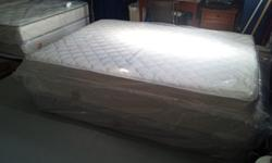 $150 Queen Mattress and Box Spring BRAND NEW IN PLASTIC