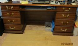 $150 REDUCED cherry desk/credenza great shape