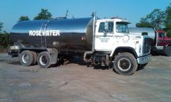 $15,000 1989 Ford Water Tanker Truck