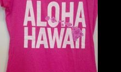 "$15 BRAND NEW Women's/Junior ""ALOHA HAWAII"" Pink T-Shirt"