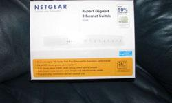 $15 Netgear 8 port Gibabit Ethernet Switch