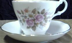 $15 Royal Stuart Fine Bone China Cup/Saucer - Made in
