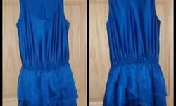 $15 Silk Blue Lauren Conrad dress Semi New