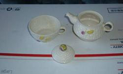 $15 Three For One Belleek Irish Parian China Tea Set