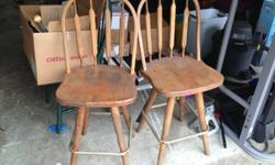 $15 Two barstool chairs in oak