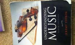 $15 Understanding Music Text Book with CD's