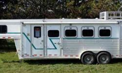 $16,000 1999 Cherokee Invasion 4-Horse Slant Load w Living