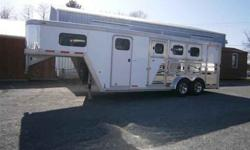 $16,995 Used 2004 CM Trailers 3 Horse Gooseneck with