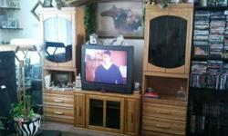 $175 Entertainment Center/Head-Board/Wall Set and TV