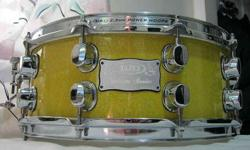$175 Mapex Saturn Snare drum - with sound blasters, new Remo