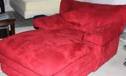 $175 Microfiber Oversized Chaise Lounge