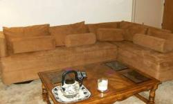 $175 OBO LARGE Suede Sectional Sofa - Recently
