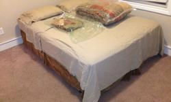 $175 OBO Queen pillow top bed with matress cover, sheets and