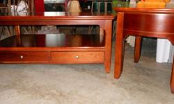 $175 OBO Riverside Furniture, solid-wood cherry coffee table
