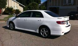 $17,695 WHITE 2011 Toyota Corolla S: LOW MILES/1-OWNER