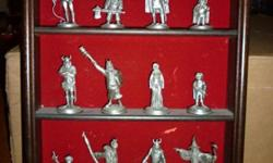 $180 JRR Tolkien Lord Of The Rings Pewter Figures Set