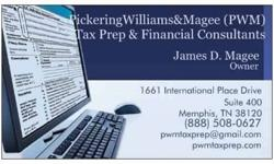 $185 PickeringWIlliams&Magee (PWM) Tax Prep and Financial