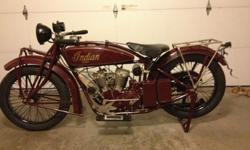 1925 Indian Scout 598 cc Motocycle