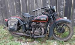 1934 Harley Davidson VLD Big Twin Original Paint Vintage