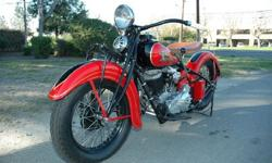 1935 Indian Chief Motorcycle Full Restoration with shipping