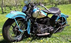 1939 Knucklehead Harley Davidson IN Original Paint Worldwide