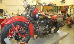 1939 Vintage Harley Knuckle Head Worldwide Shipping