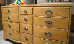 $195 Spacious 12-Drawer Dresser in Great Condition - Solid