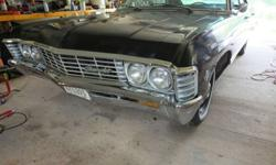 1967 Chevy Impala 4 door Hardtop Black 67 Chevrolet