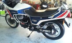1983 Honda CX650 Turbo White, Blue and Red