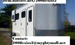 198#003YHC921 2008 Exiss 2 Horse trailer wbumperpull