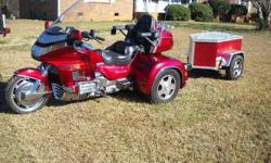 1992 HONDA goldwing TRIKE and TRAILER very,very nice