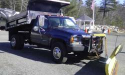 1994 GMC Sierra K3500 Dump / Plow Truck w/8ft Fisher Plow