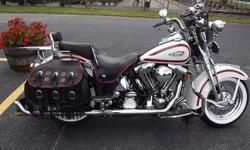 1997 Harley-Davidson Heritage Springer Birch White with Red