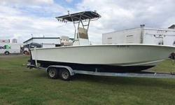 1999 24' CENTER CONSOLE OFF SHORE FISHING BOAT T-TOP & a