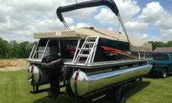1999 Tracker marine Party barge 21