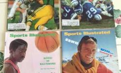 $19 4 Sports Illustrated Mags from 1960s