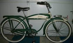 $1,000 1950 Schwinn Hornet Balloon Men's Bike with Tank,