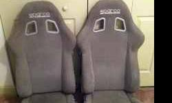 $1,000 2-Sparco Milano 2 seats in grey Alcantara -
