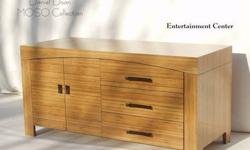 "$1,000 48"" Solid Bamboo Entertainment Center - Vessel"
