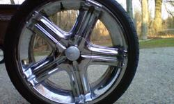 "$1,000 DK-3 20"" Chrome Rims w/Low Profile Tires"