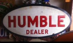 $1,000 Humble oil gasoline porcelain huge sign rare