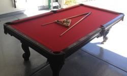 $1,000 OBO 8ft Olhausen Pool Table For Sale W/ Accu Fast -