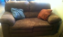 $1,000 OBO Matching Chocolate brown suede couch, love seat,
