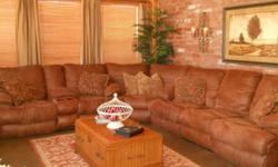$1,050 Sectional dark brown/4 recliners