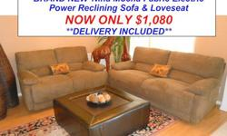 $1,080 BRAND NEW Power Reclining Sofa and Matching Loveseat