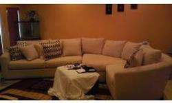 $1,100 Stain Resistant Sectional, Chair & Ottoman