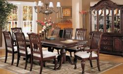 $1,119 Elegant Formal Dining Collection that Seats Eight