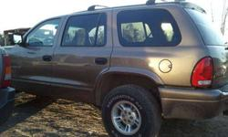 $1 2000 dodge durango third row seating 4wd