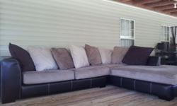 $1,200 3 month old dual fabric sectional